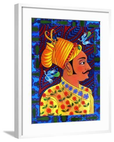 Maharaja with Blue Birds, 2011-Jane Tattersfield-Framed Art Print