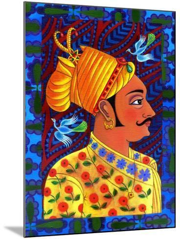 Maharaja with Blue Birds, 2011-Jane Tattersfield-Mounted Giclee Print