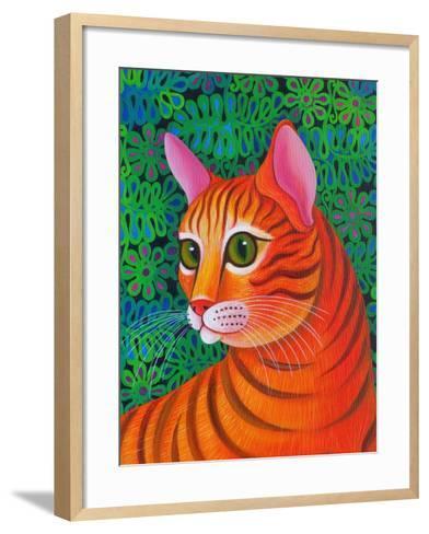 Tiger Cat, 2012-Jane Tattersfield-Framed Art Print