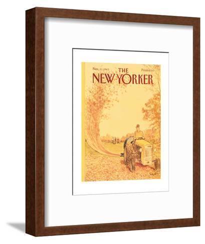 The New Yorker Cover - November 11, 1985-Charles Saxon-Framed Art Print
