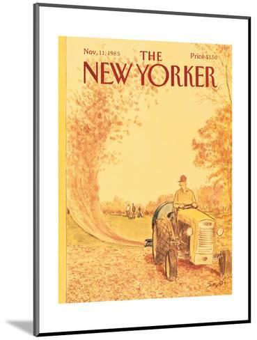 The New Yorker Cover - November 11, 1985-Charles Saxon-Mounted Premium Giclee Print