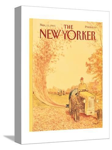 The New Yorker Cover - November 11, 1985-Charles Saxon-Stretched Canvas Print
