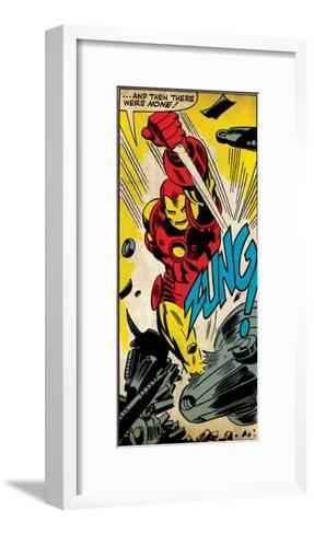 Marvel Comics Retro Style Guide: Iron Man--Framed Art Print