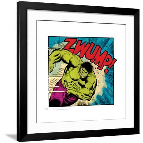 Marvel Comics Retro Style Guide: Hulk--Framed Art Print