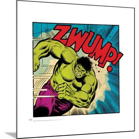 Marvel Comics Retro Style Guide: Hulk--Mounted Art Print