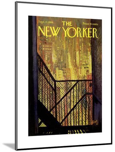 The New Yorker Cover - September 21, 1968-Arthur Getz-Mounted Premium Giclee Print