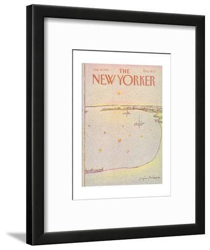 The New Yorker Cover - August 30, 1982-Eug?ne Mihaesco-Framed Art Print