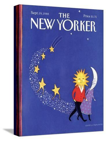 The New Yorker Cover - September 19, 1988-Pamela Paparone-Stretched Canvas Print