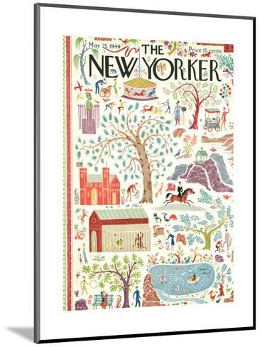 The New Yorker Cover - May 25, 1940-Joseph Low-Mounted Premium Giclee Print