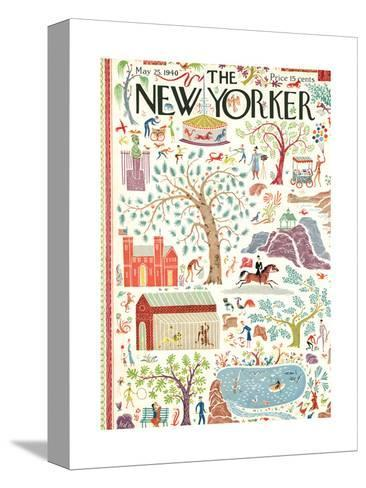 The New Yorker Cover - May 25, 1940-Joseph Low-Stretched Canvas Print