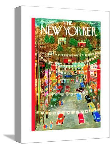 The New Yorker Cover - December 9, 1950-Ilonka Karasz-Stretched Canvas Print