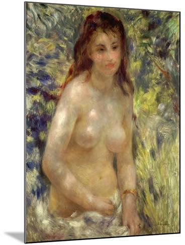 Study, Torso, Effect of Sunlight, 1875-76-Pierre-Auguste Renoir-Mounted Giclee Print