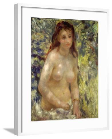Study, Torso, Effect of Sunlight, 1875-76-Pierre-Auguste Renoir-Framed Art Print