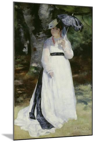 Lise with a Parasol (Lise - La Femme a L'Ombrelle), 1867-Pierre-Auguste Renoir-Mounted Giclee Print
