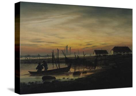 Coastal Landscape, Sunset, Um 1816-1818-Caspar David Friedrich-Stretched Canvas Print
