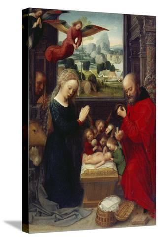 Nativity-Adriaen Isenbrant-Stretched Canvas Print