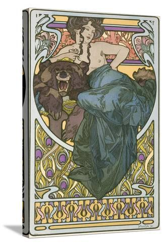 Plate 47 from the Book 'Documents Decoratifs', Published in 1902-Alphonse Mucha-Stretched Canvas Print