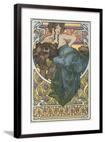 Plate 47 from the Book 'Documents Decoratifs', Published in 1902-Alphonse Mucha-Framed Art Print