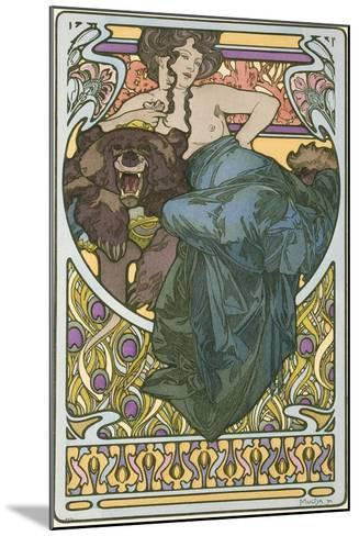 Plate 47 from the Book 'Documents Decoratifs', Published in 1902-Alphonse Mucha-Mounted Giclee Print