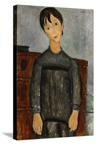 Girl with a Black Apron-Amadeo Modigliani-Stretched Canvas Print
