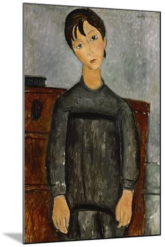 Girl with a Black Apron-Amadeo Modigliani-Mounted Giclee Print