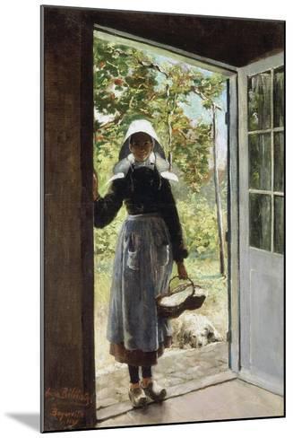 Young Woman from Boyardville (Ile D'Oléron) on the Doorstep-Anna Bilinska-Mounted Giclee Print