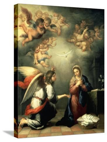 The Annunciation, 1655-65-Bartolom? Est?ban Murillo-Stretched Canvas Print