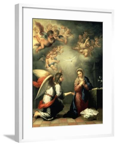 The Annunciation, 1655-65-Bartolom? Est?ban Murillo-Framed Art Print