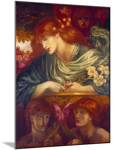 The Blessed Damozel, 1875-79-Dante Gabriel Rossetti-Mounted Giclee Print