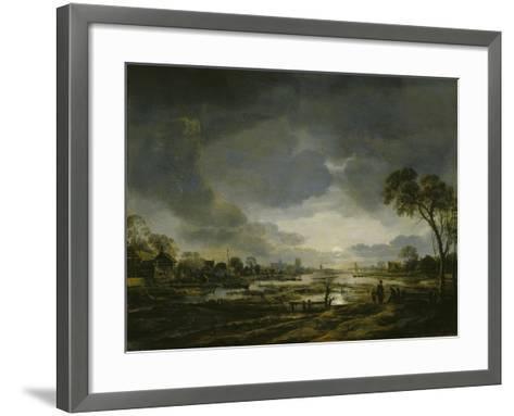 Moonlit Landscape-Aert van der Neer-Framed Art Print
