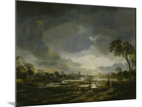 Moonlit Landscape-Aert van der Neer-Mounted Giclee Print