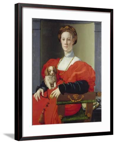 Bildnis Einer Dame Mit Schosshuendchen, 1537-1540-Agnolo Bronzino-Framed Art Print