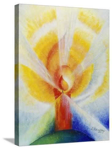 Light and Burning Candle, 2001-Annette Bartusch-Goger-Stretched Canvas Print
