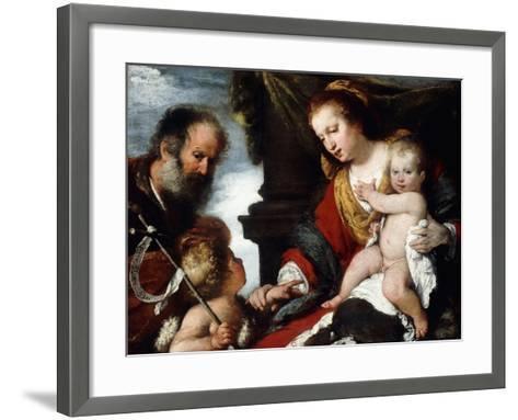 The Holy Family with the Infant St. John the Baptist-Camille Pissarro-Framed Art Print