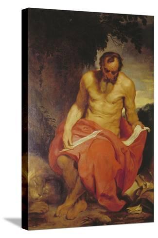 Saint Jerome-Sir Anthony Van Dyck-Stretched Canvas Print