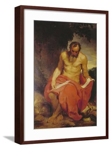 Saint Jerome-Sir Anthony Van Dyck-Framed Art Print