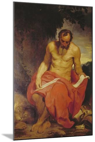 Saint Jerome-Sir Anthony Van Dyck-Mounted Giclee Print