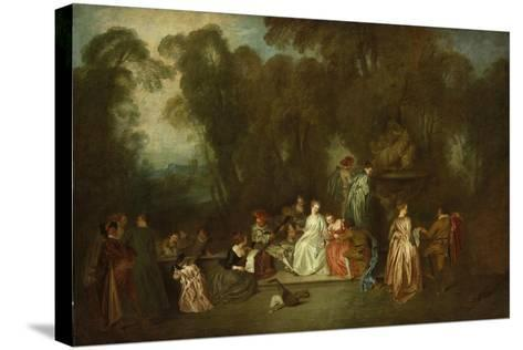Party in the Park-Antoine Coypel-Stretched Canvas Print