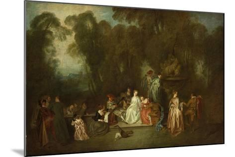Party in the Park-Antoine Coypel-Mounted Giclee Print