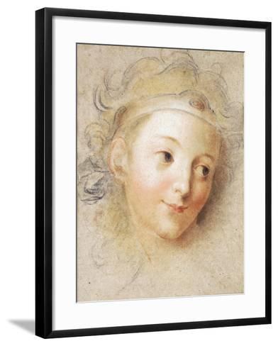 The Head of a Boy-Antoine Coypel-Framed Art Print