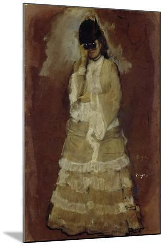 Lady with Opera Glasses, 1879-80-Edgar Degas-Mounted Giclee Print