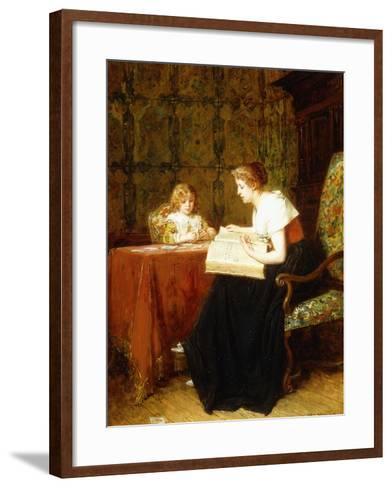The Evening Hour-Antoine Jean Gros-Framed Art Print
