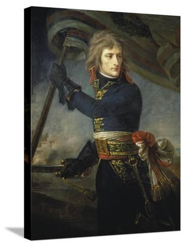 Bonaparte at the Bridge of Arcole, 17, November 1796-Antoine Jean Gros-Stretched Canvas Print