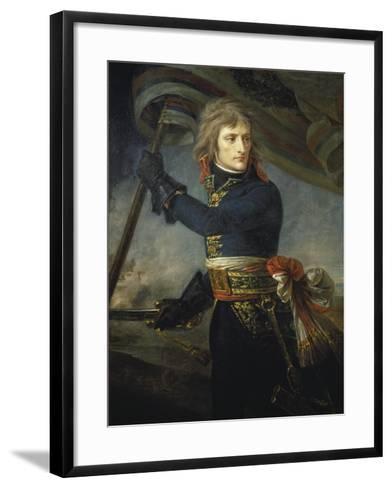 Bonaparte at the Bridge of Arcole, 17, November 1796-Antoine Jean Gros-Framed Art Print