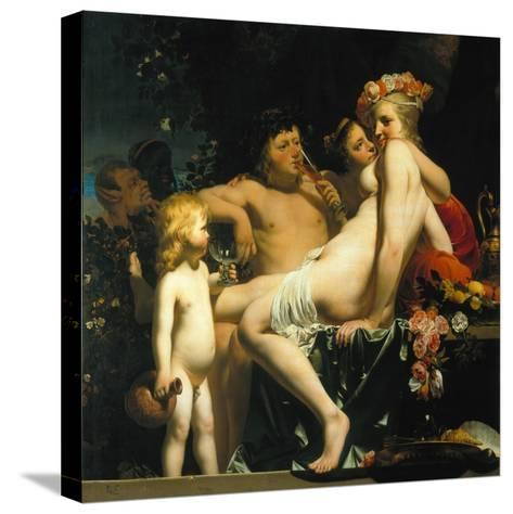 Bacchus with Two Nymphs and Amor-Camille Pissarro-Stretched Canvas Print