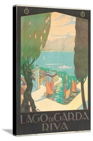 Poster Advertising Lago Di Garda, Riva, C. 1926-Antonio Simeoni-Stretched Canvas Print