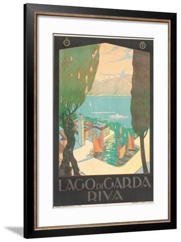 Poster Advertising Lago Di Garda, Riva, C. 1926-Antonio Simeoni-Framed Art Print
