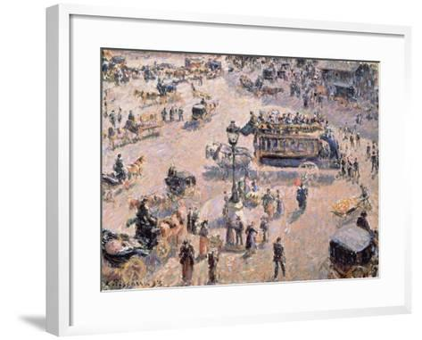 View of Saint-Lazare Square with Horse-Drawn Vehicle 1893-Canaletto-Framed Art Print