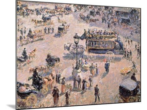 View of Saint-Lazare Square with Horse-Drawn Vehicle 1893-Canaletto-Mounted Giclee Print