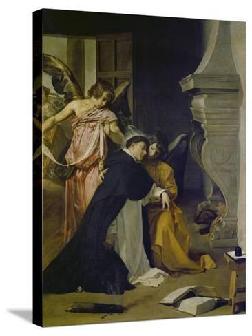 Temptation of St. Thomas Aquinas-Diego Velazquez-Stretched Canvas Print